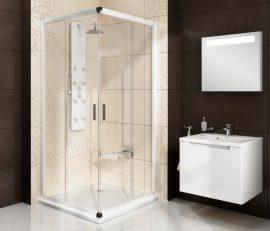 RAVAK Blix, zuhanykabin BLRV2-90 fehér + Grafit, 1LV70100ZH