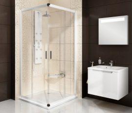 RAVAK Blix zuhanykabin BLRV2-90, fehér kerettel, Grafit edzett biztonsági üveggel, 1LV70100ZH