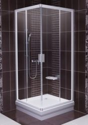 RAVAK Blix sarok szögletes zuhanykabin BLRV2-90 fényes krómhatású-fényes alumínium keret + TRANSPARENT edzett biztonsági üveggel, 1LV70C00Z1