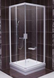 RAVAK Blix sarok szögletes zuhanykabin BLRV2-90, fényes alumínium / krómhatású kerettel, Transparent edzett biztonsági üveggel, 1LV70C00Z1