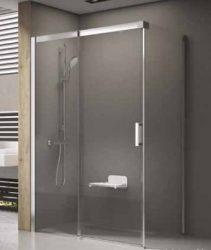 RAVAK Matrix zuhanykabin MSRV4-90/90 szatén kerettel, transparent biztonsági üveggel, 1WV77U00Z1