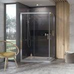 RAVAK 10° 10RV2K-90 zuhanykabin, 880-900x1900, szatén+Transparent, 1ZJ70U00Z1