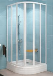 RAVAK SUPERNOVA SKKP6-80 hatelemes, negyedköríves tolórendszerű zuhanykabin fehér kerettel / GRAPE edzett biztonsági üveggel, 80 cm-es / 32040100ZG