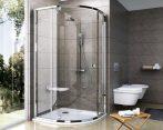 RAVAK Pivot zuhanykabin PSKK3-80, fényes alumínium / krómhatású kerettel, Transparent  edzett biztonsági üveggel, 37644C00Z1