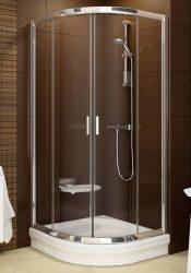 RAVAK Blix zuhanykabin BLCP4-80, fényes alumínium / krómhatású kerettel, grafit edzett biztonsági üveggel, 3B240C00ZH