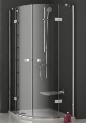 RAVAK SmartLine SMSKK4-80 Negyedköríves négyrészes zuhanykabin króm zsanérral, transparent edzett biztonsági üveggel 80 cm, 3S244A00Y1