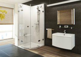 RAVAK Brilliant BSKK4-80 négyrészes, negyedköríves zuhanykabin + B SET, króm kerettel, transparent edzett biztonsági üveggel, 3U244A00Y1 + D01000A073