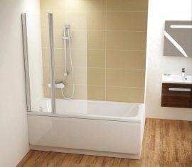 RAVAK CVS2-100 Balos kádparaván, fehér kerettel, transparent edzett biztonsági üveggel, 100 cm, 7QLA0100Z1