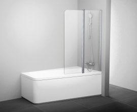 RAVAK Kádparaván 10CVS2-100 L / balos, fehér kerettel,  transparent edzett biztonsági üveggel, 7QLA0103Z1