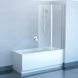 RAVAK CVS2-100 Jobbos kádparaván, fényes alumínium / króm hatású kerettel, transparent edzett biztonsági üveggel, 100 cm, 7QRA0C00Z1