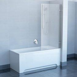 RAVAK BVS1-80 Egyrészes kádparaván + B SET, króm kerettel, transparent edzett biztonsági üveggel 80 cm, 7U840A00Z1 + D01000A070