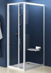 RAVAK SUPERNOVA PSS-90 fix zuhanykabin oldalfal fehér kerettel / TRANSPARENT edzett biztonsági üveggel, 90 cm / 94070100Z1