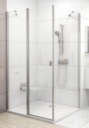 RAVAK Chrome CPS-100 Egyrészes fix zuhany oldalfal fényes alumínium / krómhatású kerettel, Transparent edzett biztonsági üveggel, zuhanykabinhoz, 100 cm, 9QVA0C00Z1