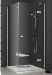 RAVAK SmartLine SMPS 80 Fix jobbos oldalfal SMSD2 zuhanyajtóval való kombinálásra króm zsanérral / TRANSPARENT edzett biztonsági üveggel 80 cm / 9SP40A00Z1
