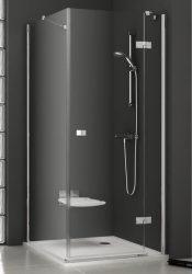 RAVAK SmartLine SMPS 90 Fix jobbos oldalfal SMSD2 zuhanyajtóval való kombinálásra króm zsanérral, transparent edzett biztonsági üveggel 90 cm, 9SP70A00Z1
