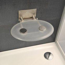 RAVAK OVO-P Clear zuhanykabin ülőke, áttetsző, B8F0000000