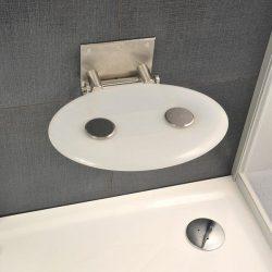 RAVAK OVO-P Opal zuhanykabin ülőke, áttetsző fehér, B8F0000001