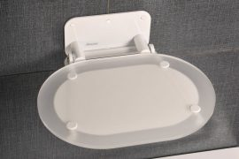 RAVAK Chrome zuhanykabinhoz ülőke Clear  / Fehér, B8F0000028