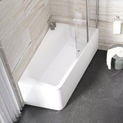 RAVAK 10° akril fürdőkád / kád, 170 x 100 cm, balos, 10 fok, snowwhite / hófehér /  fehér, C811000000