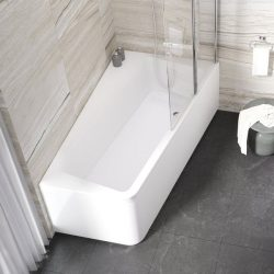 RAVAK 10° akril fürdőkád / kád, 160 x 95 cm, balos, 10 fok, snowwhite / hófehér / fehér, C831000000