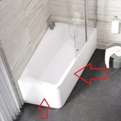RAVAK Előlap 'A' 170 x 100 cm-es 10° akril fürdőkádhoz, balos, 10 fok, snowwhite / hófehér, CZ81100A00