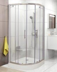 Ravak Kompakt CP4-90 íves zuhanykabin, krómhatású kerettel + transparent biztonsági üveggel, 90x90 cm-es, cikkszám: GMD31HUN0066