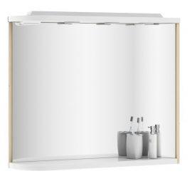 RAVAK Rosa M 780 fürdőszoba tükör, 78x16x68 cm, balos, nyír - fehér, X000000160