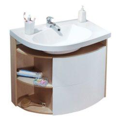 RAVAK SDU Rosa Comfort szekrény mosdó alá, jobbos, nyír - fehér, X000000163