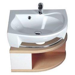 RAVAK SDU Rosa szekrény mosdó alá, balos (nyír/fehér) / Cikkszám: X000000238