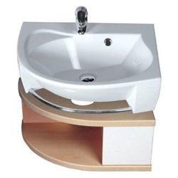 RAVAK SDU Rosa szekrény mosdó alá, jobbos (nyír/fehér) / Cikkszám: X000000239
