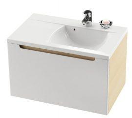RAVAK SD 800 Classic szekrény a mosdó alá, bal / balos, nyír-fehér, X000000305