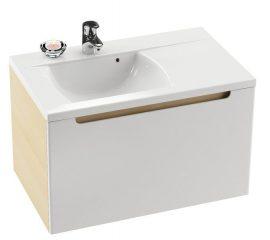 RAVAK SD 800 Classic szekrény a mosdó alá, jobb / jobbos, nyír-fehér, X000000306
