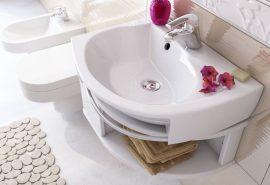 RAVAK SDU Rosa szekrény mosdó alá, balos, fehér - fehér X000000326