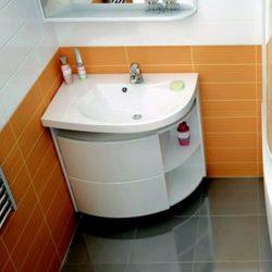RAVAK SDU Rosa Comfort szekrény mosdó alá, balos, fehér - fehér, X000000328