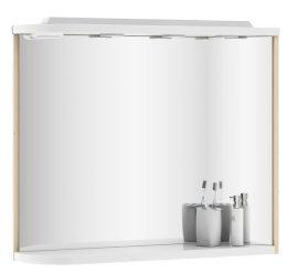 RAVAK Praktik M 780 fürdőszoba tükör, 78x16x68 cm, balos, fehér - fehér, X000000331