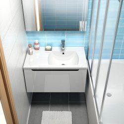 RAVAK SD 800 Classic szekrény a mosdó alá, bal / balos, fehér-fehér, X000000350