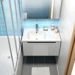 RAVAK SD 800 Classic szekrény a mosdó alá, jobb / jobbos, fehér-fehér, X000000351