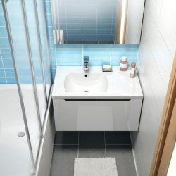 RAVAK SD 800-jobb Classic szekrény a mosdó alá (fehér/fehér) / Cikkszám: X000000351
