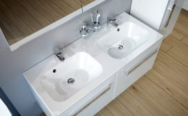RAVAK SD 1200 Chrome duplamosdó szekrény, fehér / fehér, X000000536