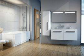RAVAK SB Chrome 350 szekrény, fürdőszobabútor 35 x 37 x 120 cm-es Balos, fehér / fehér, X000000542