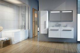 RAVAK SB Chrome 350 szekrény, fürdőszobabútor 35 x 37 x 120 cm-es Jobbos, fehér / fehér, X000000543