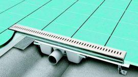 RAVAK Runway 300 zuhanyfolyóka, rozsdamentes acél, X01418