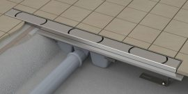 RAVAK Chrome 300 zuhanyfolyóka, rozsdamentes acél, X01426