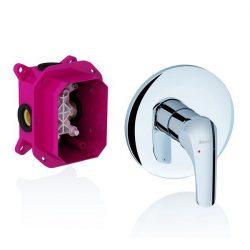 RAVAK Rosa Falba süllyesztett / beépíthető zuhany csaptelep zuhanyváltó nélkül, R-Boxhoz, falsík alatti csaptelep látható rész, RS 066.00, X070049