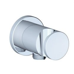 """RAVAK Fali krómozott réz zuhany csatlakozó / gégecső csatlakozó, integrált zuhanytartóval, 706.00, falsík alatti csaptelephez, 1/2""""-os, X07P206"""