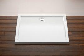 RAVAK Galaxy Gigant LA szögletes zuhanytálca, 100 x 80 cm-es, extra alacsony kivitel, fehér, XA01A401210