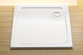 RAVAK GALAXY Perseus Pro 80 CHROME szögletes zuhanytálca öntött műmárványból / 80 x 80 cm-es / csúszásmentes / extra alacsony kivitel / fehér / XA044401010