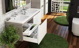 RAVAK Classic 1300 dupla mosdó, furattal, 130x49 cm, fehér, XJD01113000