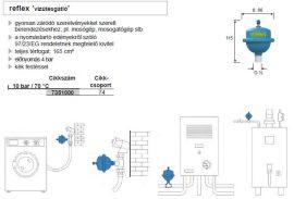 REFLEX vízütésgátló, gyorsan záródó szerelvényekhez (pl.: mosogatógép, mosógép), 7351000