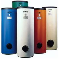 Reflex AB / SB 500 HMV álló indirekt tároló 1 csőkígyóval, 500 l-es, használati melegvíz készítéshez, színes lemezborítású szigeteléssel